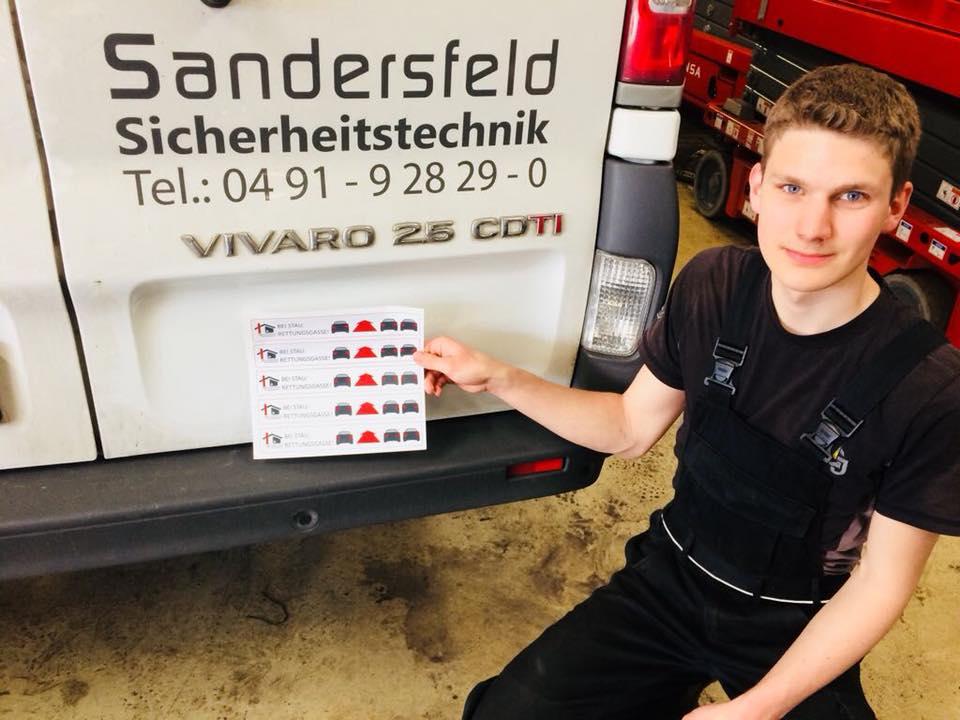 Aaaron KFZ Fahrzeugsticker.jpg – Sandersfeld Sicherheitstechnik GmbH
