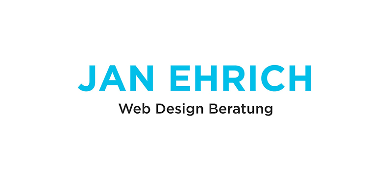 JAN EHRICH - Web Design Beratung